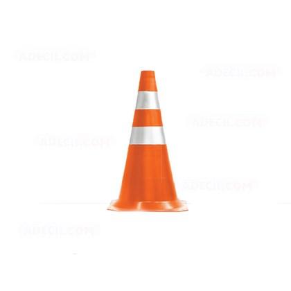 Cone PVC Refletivo 75 cm Laranja