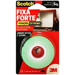 Fita Dupla Face Scotch Fixa Forte - 24mm x 2m - #HB004492250