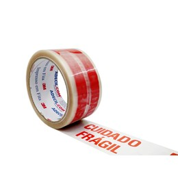 Fita Embalagem impressa 3M - CUIDADO FRÁGIL 48mm x 50m