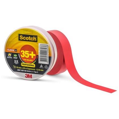 Fita Isolante Scotch 35+ Vermelha – 19 mm x 20 m