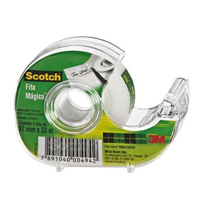 Fita Mágica 3M Scotch Com Dispensador - 12 mm x 33 m