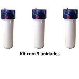 Kit com 03 Filtros 3M Aqualar Aquatotal #HB004273353