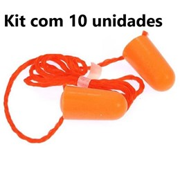 Kit com 10 - 1110 Protetor Auditivo com Cordão