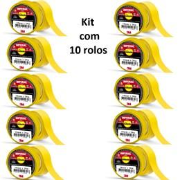 Kit com 10 rolos - Isolante 3M Imperial Amarela – 18mm x 20m