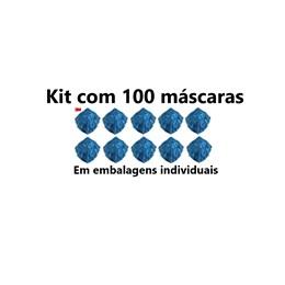 Kit com 100 - 9820 Respirador Dobrável PFF2 3M
