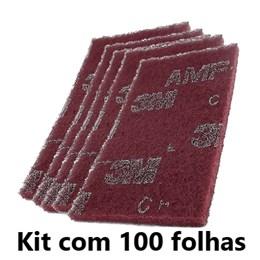Kit com 100 - Folha Scotch Brite AMF 134 X 240