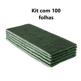 Kit com 100 - Folha Scotch Brite Uso Geral 134 X 240