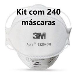 Kit com 240 - Respirador 3M Aura 9320+ Branco Pff2 #Hb004385173
