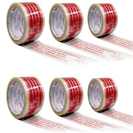 Kit com 6 rolos Fita Embalagem Impressa 3M - LACRE