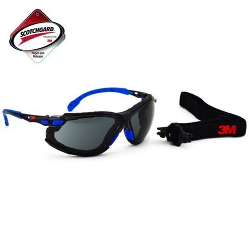Produto Kit Óculos 3M Solus 1000 Cinza com espuma e elástico #HB004561997