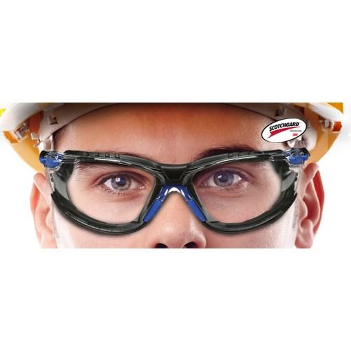 Produto Kit Óculos 3M Solus 1000 Transparente com espuma e elástico #HB004561971
