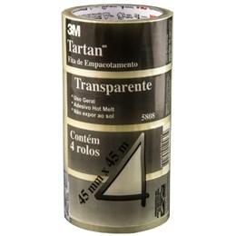 Pacote com 04 rolos Fita 5808 3M Tartan 45mm x 45m