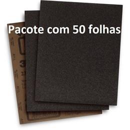 Pacote com 50 Folhas de Lixa D'Água 3M 211Q 225x275mm g220