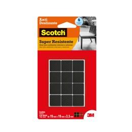 Protetor Antideslizante 3M Scotch Quadrado Preto Pequeno