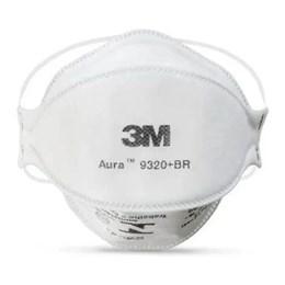 Respirador 3M AURA 9320+ Branco PFF2 #HB004385173