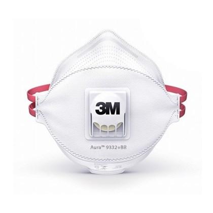 Respirador Aura 9332 Br Pff3 Valvulada