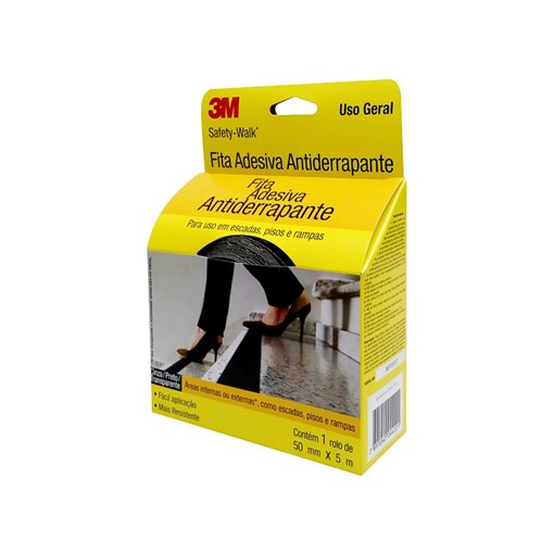 Produto Safety Walk Preto 50 mm X 5 m